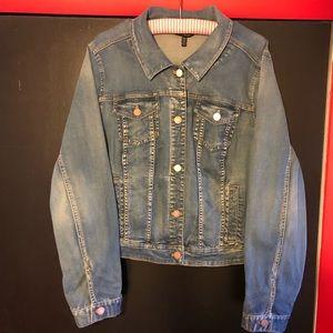 Whbm plus size jean jacket size 20